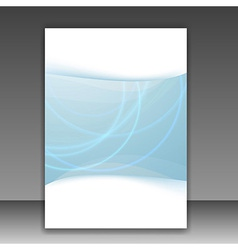 Modern folder template - bright blue lines vector image