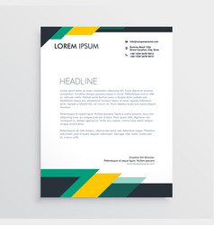 Modern letterhead design template with geometric vector