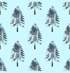 mosaic fir pattern vector image