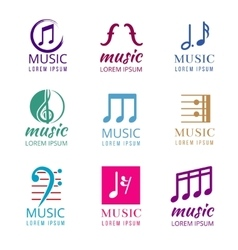 Music logos set vector
