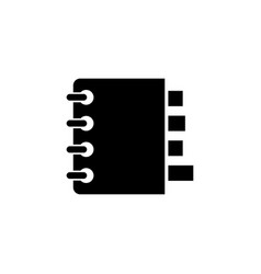 notebook organizer flat icon vector image