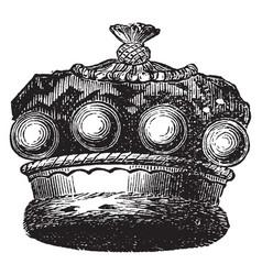 Official coronet of a european baron vintage vector