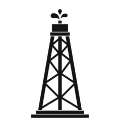 Oil rig icon simple style vector