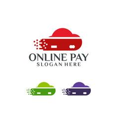 online payment logo template designs vector image
