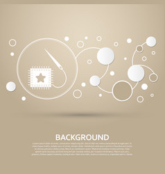 Patch icon on a brown background with elegant vector