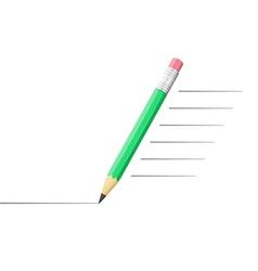 Pencil drawing a line vector