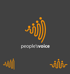 people voice concept symbol vector image