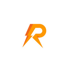 power letter r logo icon design vector image