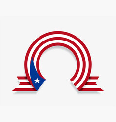puerto rican flag rounded abstract background vector image