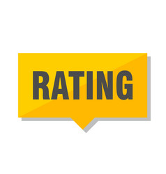 rating price tag vector image