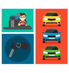 Rental car banners vector image