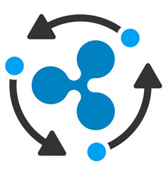 Ripple turnover flat icon vector