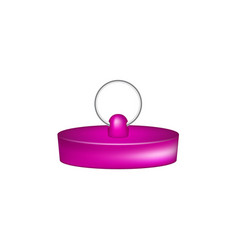 rubber plug in purple design vector image