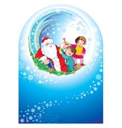 santa happy children vector image