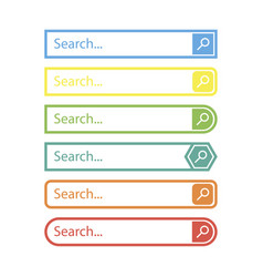 search bar design element in flat style vector image