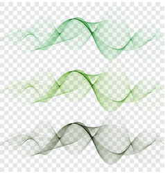 smooth clear beautiful waves set wave abstract vector image