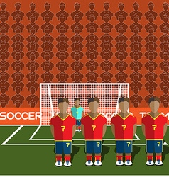 Spain Soccer Club Penalty on a Stadium vector image