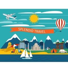 Splendid Travel Background vector image