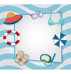 Summer frame background vector image
