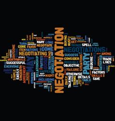 ten tips to negotiate successfully text vector image