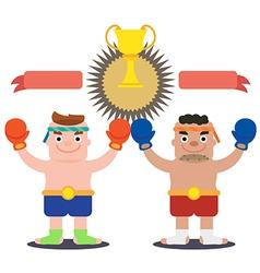 Thai boxer vector