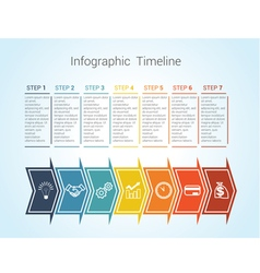 timeline arrows 7 vector image