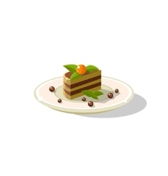 Traditional Italian Layered Cake Dessert vector