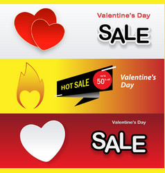 valentines day set holiday banners for sale vector image