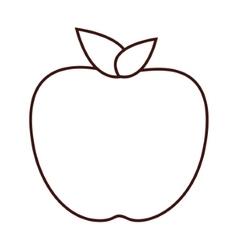 White apple fruit vector