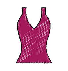 Women blouse icon vector