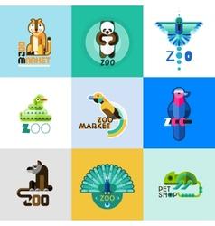 Zoo Logo Set vector