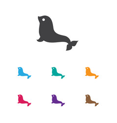 Zoology symbol on seal icon vector