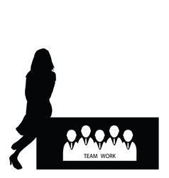 girl with teamwork vector image