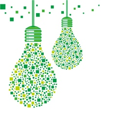 Green light bulb design vector image vector image