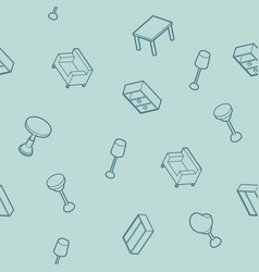 interior outline isometric pattern vector image vector image