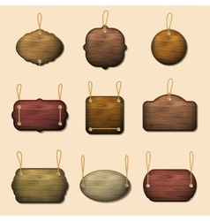 Old wooden label templates or banners vector image vector image