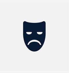 sad mask icon simple vector image