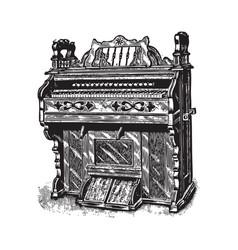 ancient piano vector image vector image