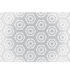 Geometric gray flower seamless pattern vector