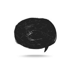 grunge speak bubble vector image vector image