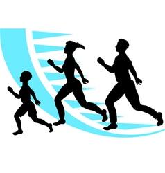 Jogging sport family vector