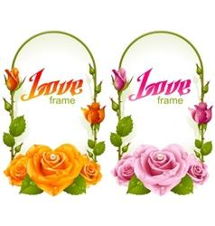 rose frames vector image vector image