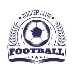 soccer club or football team league vector image