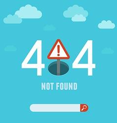 404 error page template vector image vector image