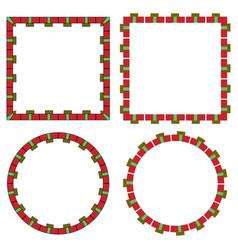 art design decorative frames border set vector image