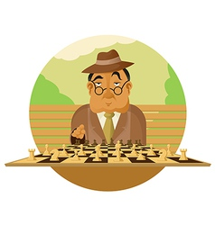 Chess player vector image