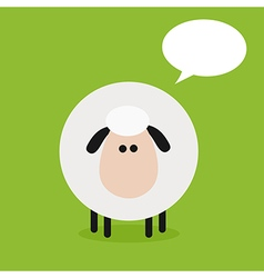 Cute Sheep Background with a Text Space vector image vector image