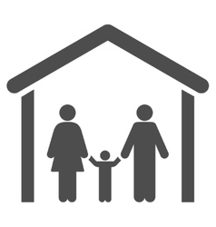 Family cabin flat icon vector