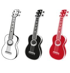 ukulele set vector image vector image