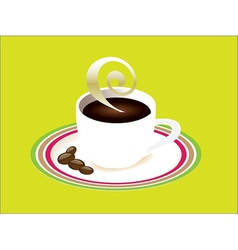 Cup of coffee and saucer vector image
